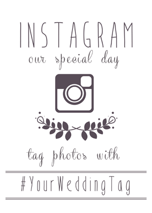 Instagram wedding sign generator for Wedding signs templates