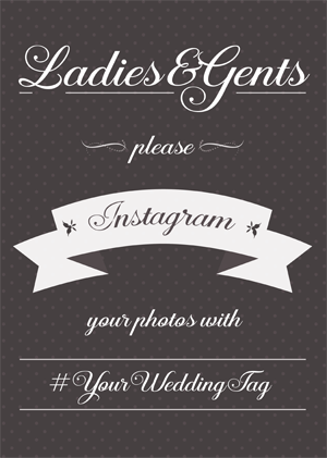Instagram wedding sign generator instagram our special day junglespirit Images