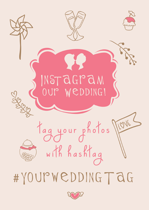 Instagram Our Wedding (pink)
