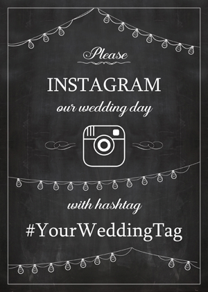 Instagram Wedding Sign Generator